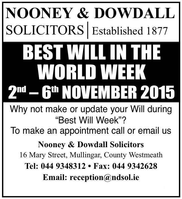 Best Will Week Advert